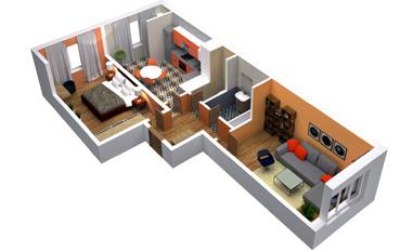 2-комнатная квартира в ЖК Sreda