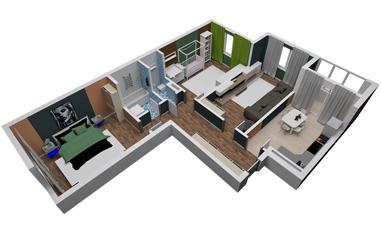 3-комнатная квартира в ЖК Бригантина