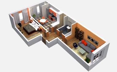 2-комнатная квартира в ЖК Триколор